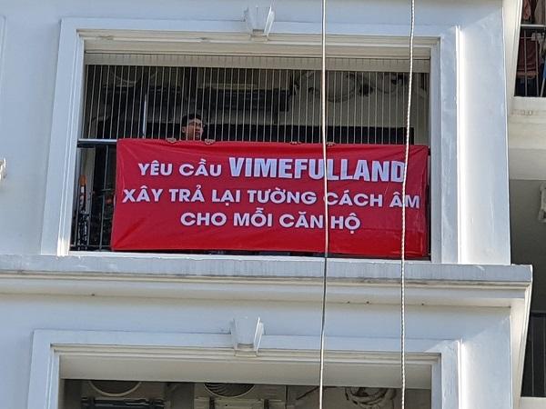 Hàng trăm khách hàng của VIMEFULLAND phản đối việc thu tiền bán căn hộ ngoài hợp đồng