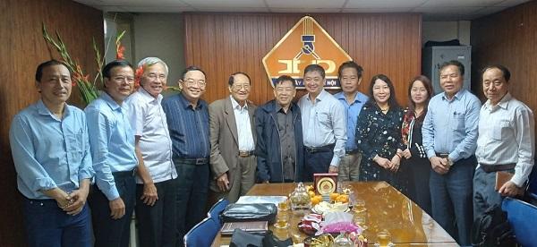 Tổng hội Xây dựng Việt Nam thăm và làm việc với Hội Xây dựng Hà Nội.